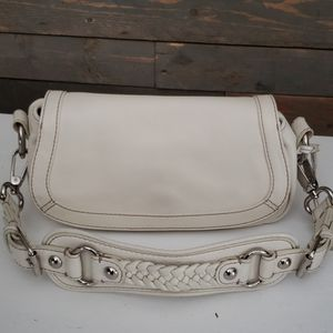 🆕 Leather Cream Banana Republic Purse